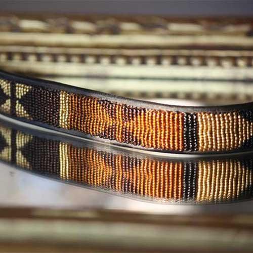 Pannband, brun, rost och guld